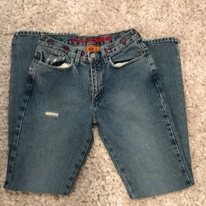 Vtg Candies heart embroidered distressed jeans